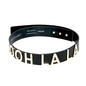 'Ooh La La' Leather Belt - belts