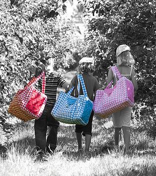 Gingham Weekend Bag
