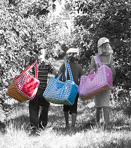 Child's Gingham Weekend Bag