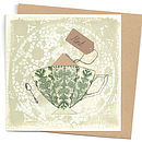 Seedlings Mint Tea Card With Seeds
