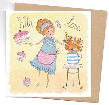 With Love Card With Marigold Seeds