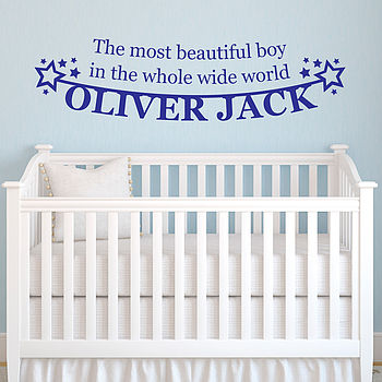 Personalised 'Beautiful Boy' Wall Sticker