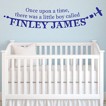 Personalised Boy's Name Wall Sticker