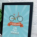 Personalised Bike Print