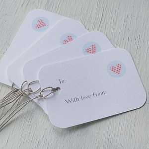 Hand Made Personalisable Gift Tags - finishing touches