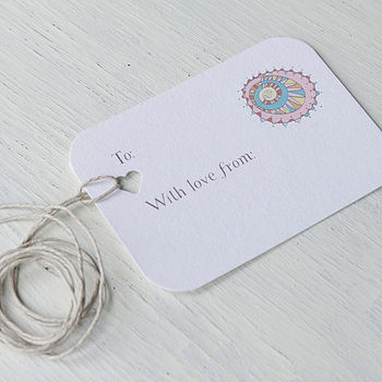 a personalisable gift tag