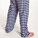 Navy Blue Check Lounge Pants