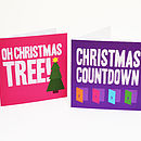 christmas tree and advent calendar cards