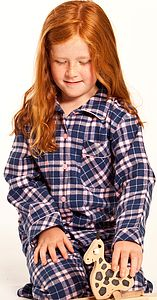 Pink And Navy Check Pyjamas, Age Two To Adult - lingerie & nightwear