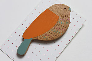 Brambling Bird Brooch - pins & brooches
