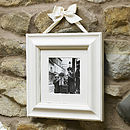 Antique Cream Wooden Photo Frames With Ribbon