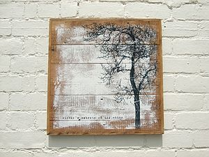 Handmade 'Embrace' Reclaimed Wood Print - contemporary art