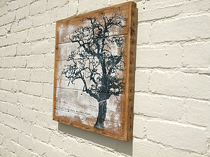 Handmade 'Blow, Blow' Reclaimed Wood Print - art & pictures