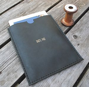 Huxley Personalised Leather Case For iPad - bags & purses