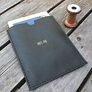 Huxley Personalised Leather Case For iPad