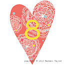Coral Bohemian Number 8 Decoration