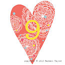 Coral Bohemian Number 9 Decoration