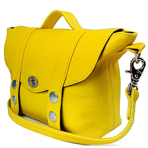 Yellow Mini 'Satchel Handbag