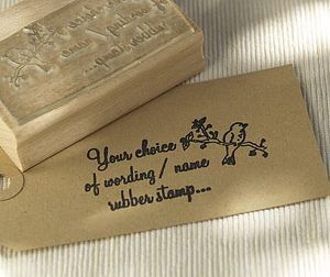 Bird And 'Your Choice Of Wording' Stamp - stationery