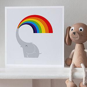 Rainbow Elephant Greetings Card
