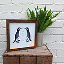 Vintage Penguins Wooden Print