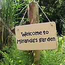 Personalised Home And Garden Sign
