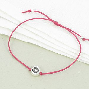 Luscious Lips Charm Friendship Bracelet - women's jewellery