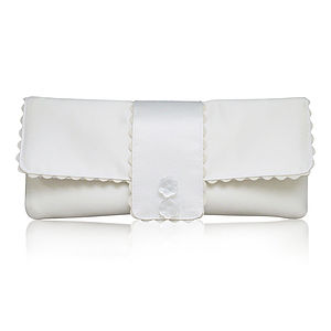 Amelia Satin Clutch - wedding fashion