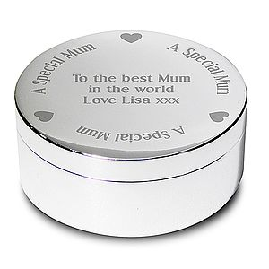 Personalised Round Trinket Box - bedroom