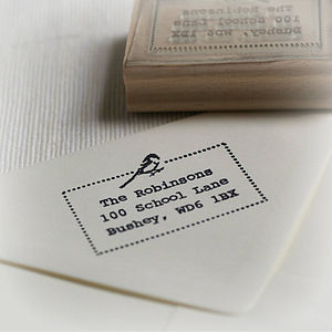 Little Bird Address / Your Own Text Stamp