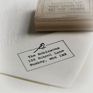 Little Bird Address / Your Own Text Stamp - diy & craft