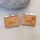 Personalised Postcard Cufflinks