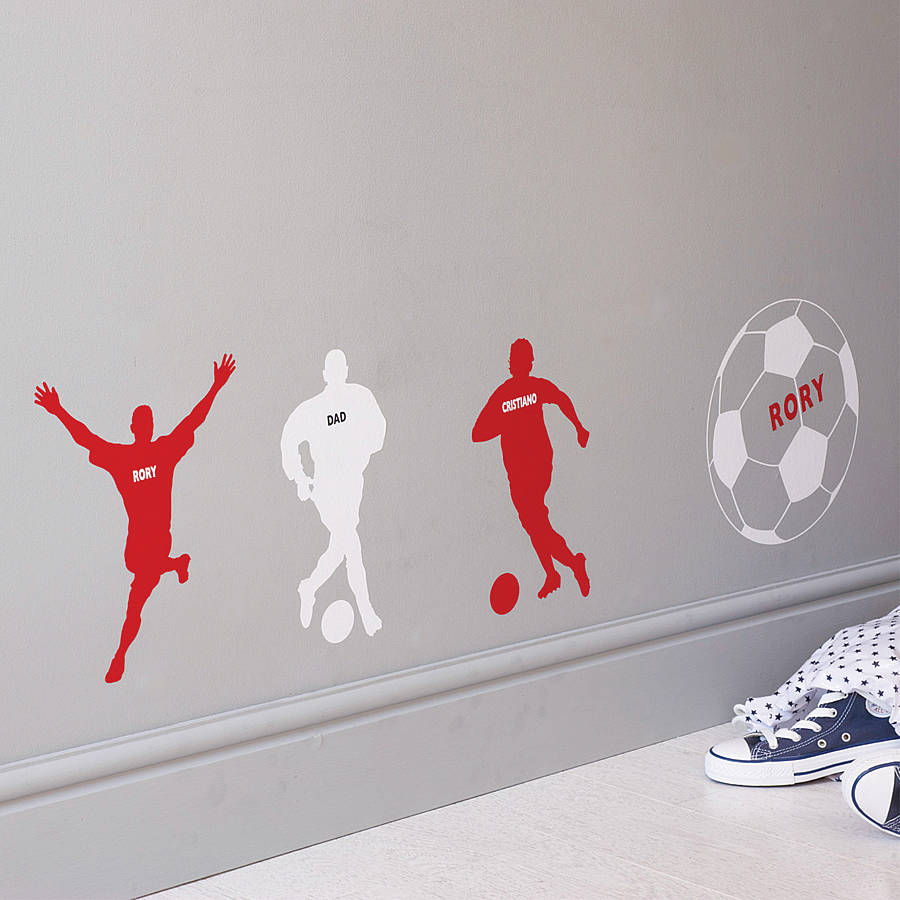 Personalised Football Wall Sticker Part 42