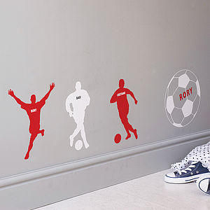 Personalised Football Wall Sticker - for over 5's