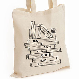 Sketch Cotton Tote Bag: Books - view all sale items