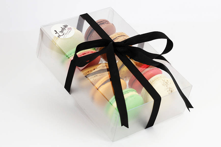 box of 10 french macarons by l'orchidée boutique patisserie ...
