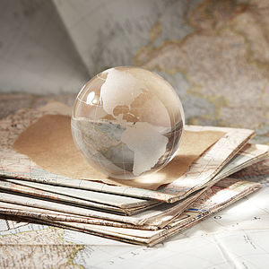 Globe Glass Paperweight - home sale