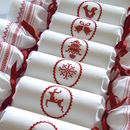 Ivory Cotton Reusable Christmas Crackers