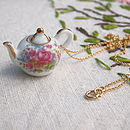 Flower Garden Teapot Necklace