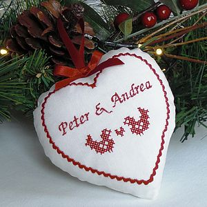 Large Scandi Cross Stitch Decorations