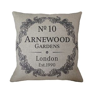 Personalised Vintage Style Home Cushion - bedroom