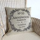 Personalised Vintage Style Home Cushion Cover