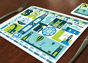 Bristol City Placemat - placemats & coasters