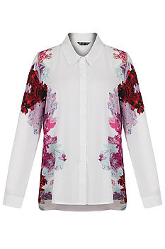 Nicolette Floral White Shirt