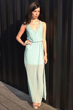 Gabriella Mint Maxi Dress