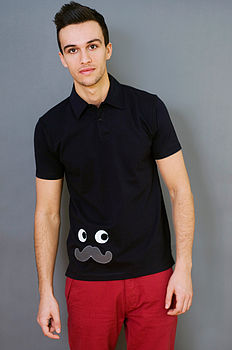 Men's Moustache Polo Shirt