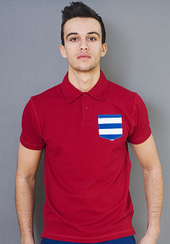 Men's Stripe Pocket Polo Shirt
