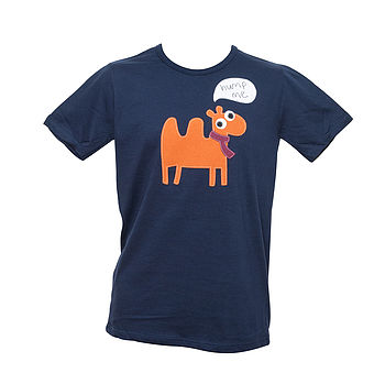 Men's 'Hump Me' Camel T Shirt