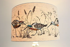 'Wading Birds' Lampshade - dining room