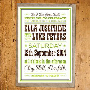 Western Wedding Stationery